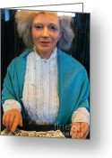 Fortune Teller Greeting Cards - Grandmother Fortune Teller At The Musee Mecanique At Fishermans Wharf . San Francisco CA . 7D14368 Greeting Card by Wingsdomain Art and Photography