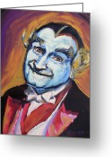 Vampire Painting Greeting Cards - Grandpa Munster Greeting Card by Buffalo Bonker