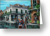 New Orleans Artist Greeting Cards - Grandpas Corner Greeting Card by Dianne Parks