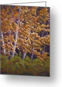 Autumn Leaves Pastels Greeting Cards - Grandy Wood Greeting Card by James Geddes