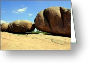 Marty Koch Greeting Cards - Granite Boulders 2  Greeting Card by Marty Koch