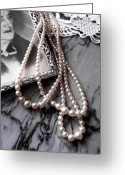 Pearls Greeting Cards - Granmas Pearls Greeting Card by Emilio Lovisa