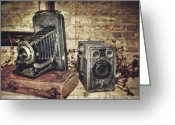 Vintage Photographs Greeting Cards - Grannys Attic Greeting Card by Kathy Jennings