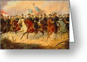 American History Painting Greeting Cards - Grant and His Generals Greeting Card by War Is Hell Store