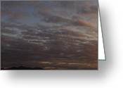 Alto Cumulus Greeting Cards - Grants Pass Sunset Panorama Greeting Card by Mick Anderson