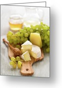 Cutting Greeting Cards - Grape, Honey And Cheese Greeting Card by Verdina Anna