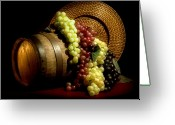 Whiskey Greeting Cards - Grapes of Wine Greeting Card by Tom Mc Nemar