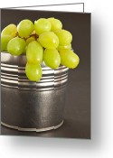 Overflowing Greeting Cards - Grapes Greeting Card by Tom Gowanlock