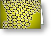 2d Greeting Cards - Graphene, Molecular Structure Greeting Card by Lawrence Berkeley National Laboratory