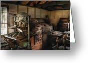 Press Greeting Cards - Graphic Artist - The Printing Shop Greeting Card by Mike Savad