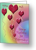 Sentiments Greeting Cards - Grasp Tightly for Eternity Greeting Card by Cathy  Beharriell