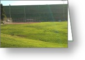 Phuong Tu Greeting Cards - Grass Field Greeting Card by Phuong Tu