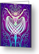 Pagan Art Greeting Cards - Gratitude Greeting Card by Cristina McAllister