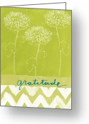 Flowers Garden Greeting Cards - Gratitude Greeting Card by Linda Woods