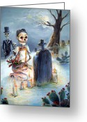 Grave Greeting Cards - Grave Sight Greeting Card by Heather Calderon