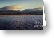 North Greeting Cards - Gravel Lake Greeting Card by Priska Wettstein