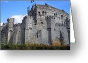 Gent Greeting Cards - Gravensteen Castle Gent Belgium Greeting Card by Marilyn Dunlap