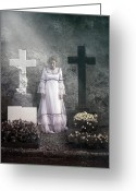 Haunting Greeting Cards - Graves Greeting Card by Joana Kruse