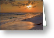 Grayton Beach Greeting Cards - Grayton Beach Sunset 7 Greeting Card by Charles Warren