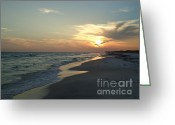 Grayton Beach Greeting Cards - Grayton beach sunset Greeting Card by April Murray
