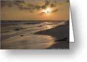 Grayton Beach Greeting Cards - Grayton Beach Sunset Greeting Card by Charles Warren