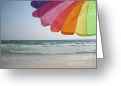 Grayton Beach Greeting Cards - Grayton Beach Umbrella Greeting Card by Jan Prewett
