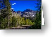 Aspen Trees Greeting Cards - Great Basin National Park Wheeler Peak Greeting Card by Scott McGuire