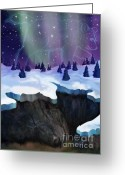 Hibernation Greeting Cards - Great Bears Dream Greeting Card by Alyssa  Hinton
