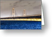Belt Greeting Cards - Great Belt Bridge Greeting Card by Gert Lavsen