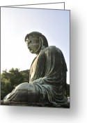 Buddhist Temple Greeting Cards - Great Buddha of Kamakura Greeting Card by Andy Smy