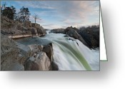 Potomac River Greeting Cards - Great Falls on the Potomac River Greeting Card by Mark VanDyke