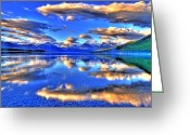 Western Canada Landscape Art Greeting Cards - Great Glacier Lake Greeting Card by Scott Mahon