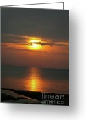 Wall Calendars Greeting Cards - Great Lakes Sunset and Beach Greeting Card by Brent Parks