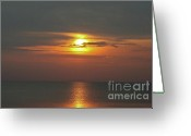 Wall Calendars Greeting Cards - Great Lakes Sunset Greeting Card by Brent Parks