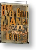 Letterpress Greeting Cards - Great Man Greeting Card by Russell Pierce