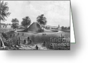 Indigenous American Greeting Cards - Great Mound At Marietta, 1848 Greeting Card by Photo Researchers