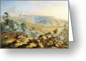 Great Painting Greeting Cards - Great Peak of the Amatola-British-Kaffraria  Greeting Card by Thomas Baines