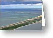 Aerials Greeting Cards - Great Point Nantucket Greeting Card by Duncan Pearson