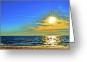 Great Point Greeting Cards - Great Point Nantucket Sound Large Format Greeting Card by Duncan Pearson