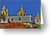 Puebla Greeting Cards - Great Pyramid of Cholula Greeting Card by Juergen Weiss