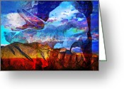 Skip Hunt Digital Art Greeting Cards - Great Spirit Greeting Card by Skip Hunt