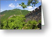 Ancient Civilization Greeting Cards - Great Wall At Mutianyu Greeting Card by Bridget Coila