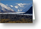 Glacier Greeting Cards - Great Wall Greeting Card by Ed Boudreau