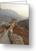 Ancient Civilization Greeting Cards - Great Wall Of China Greeting Card by Asifsaeed313