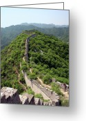 Ancient People Greeting Cards - Great Wall Of China Greeting Card by Natalia Wrzask