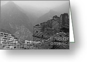 Tai Greeting Cards - Great Wall Three Greeting Card by Charline Xia