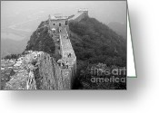 Tai Greeting Cards - Great Wall Two Greeting Card by Charline Xia