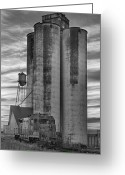 Bo Insogna Greeting Cards - Great Western Sugar Mill Longmont Colorado BW Greeting Card by James Bo Insogna