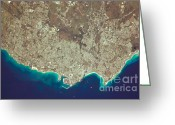 Carlisle Greeting Cards - Greater Bridgetown Area, Barbados Greeting Card by NASA/Science Source