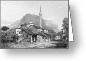 1833 Greeting Cards - Greece: Corinth Greeting Card by Granger